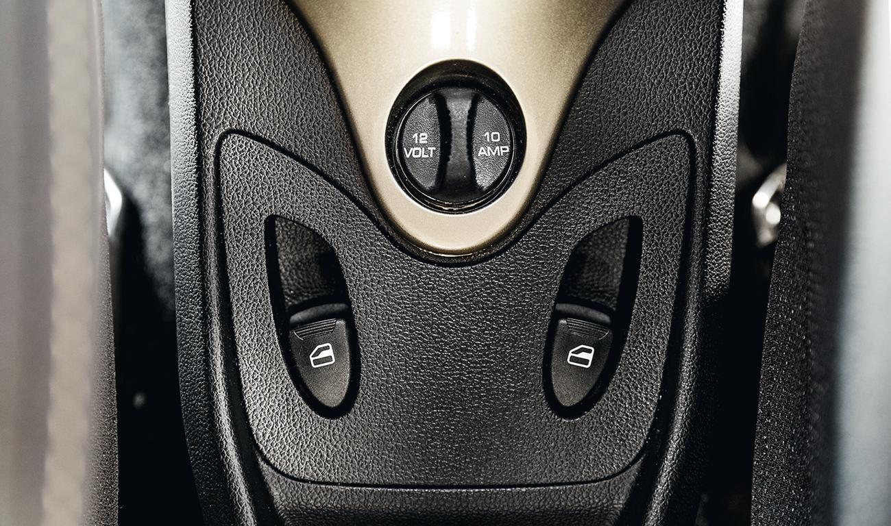Botões dos vidros elétricos ficam no console central