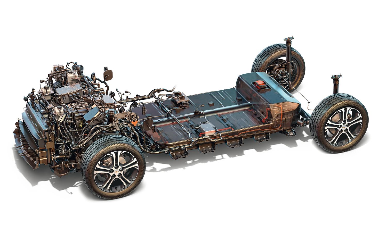 gravidade: o conjunto de baterias, com 435 kg, está instalado no assoalho do Bolt