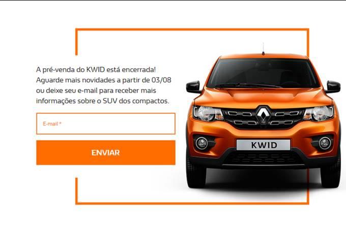 Fim da pré-venda Renault