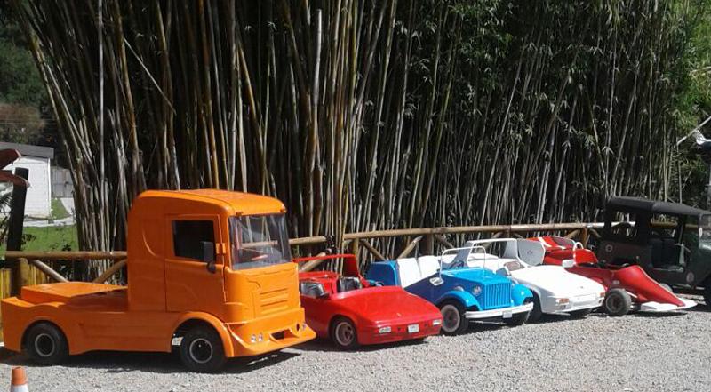 O minicaminhão Scania com motor de 400 cm³ se destaca no acervo de Padrão