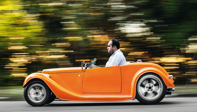 O Ford 1931 Hot Rod chega até a 70 km/h