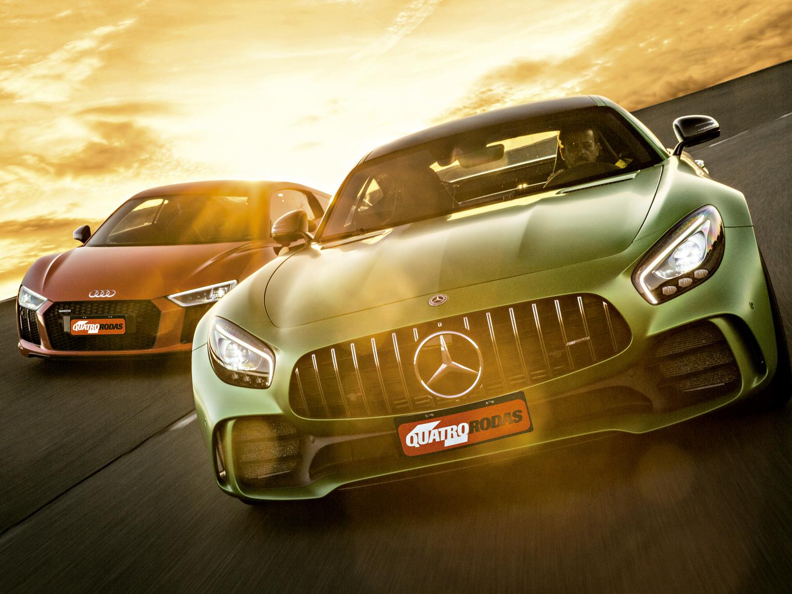 Audi R8 V10 X Amg Gt R O Confronto De R 2 4 Milhoes E 1 200 Cv Quatro Rodas
