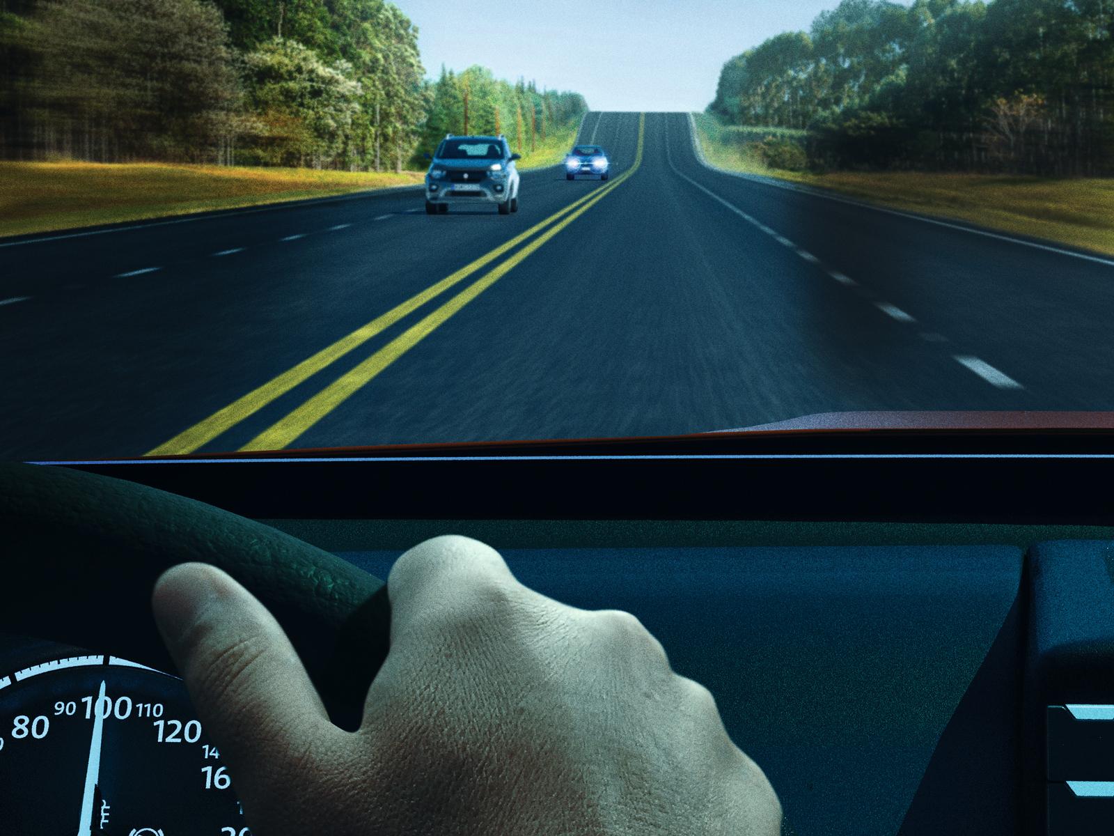 Um carro com farol apagado só seria identificado a 300 metros de distância