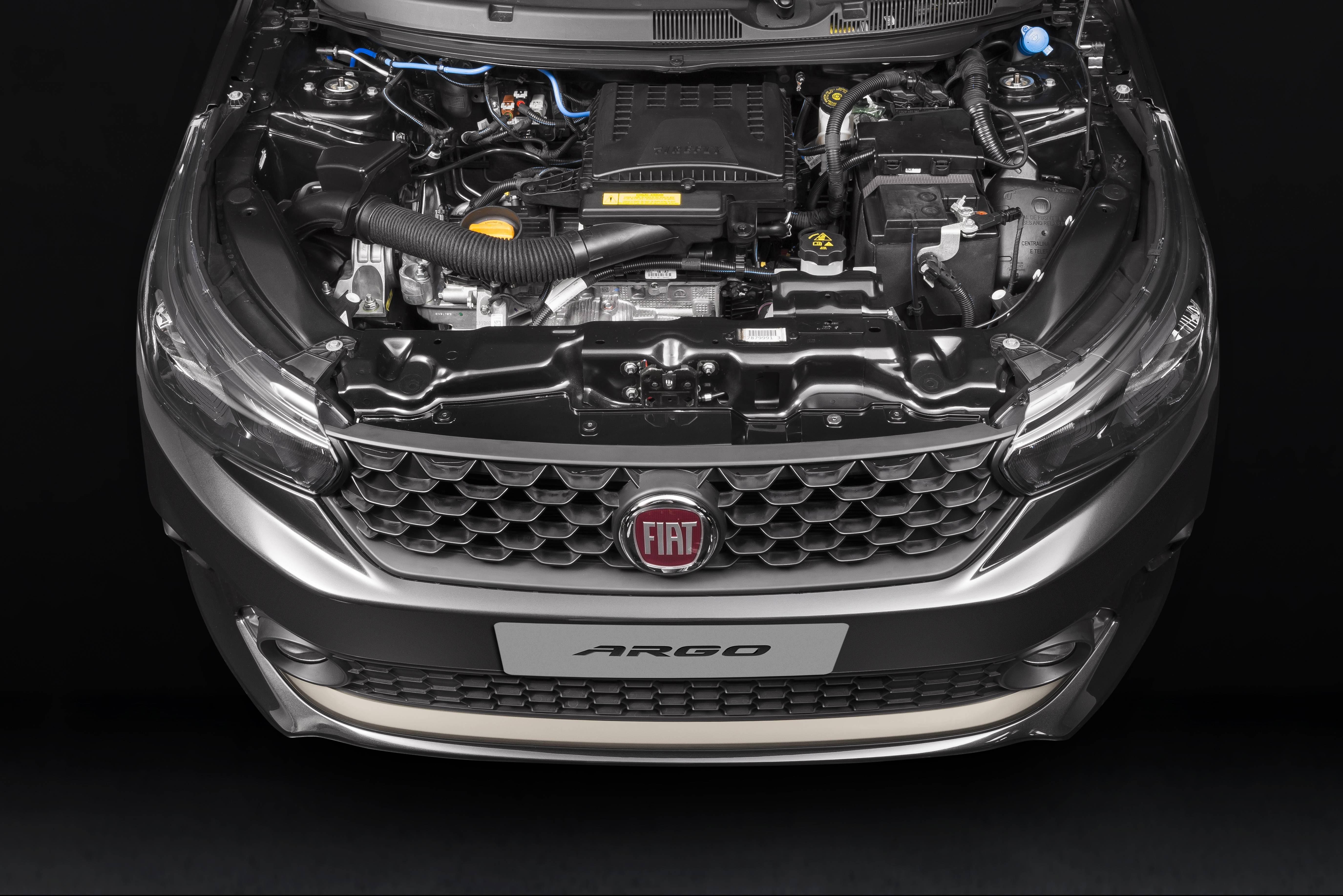 Motor 1.3 Firefly equipa as versões intermediárias do Argo e entrega até 109 cv se abastecido com etanol