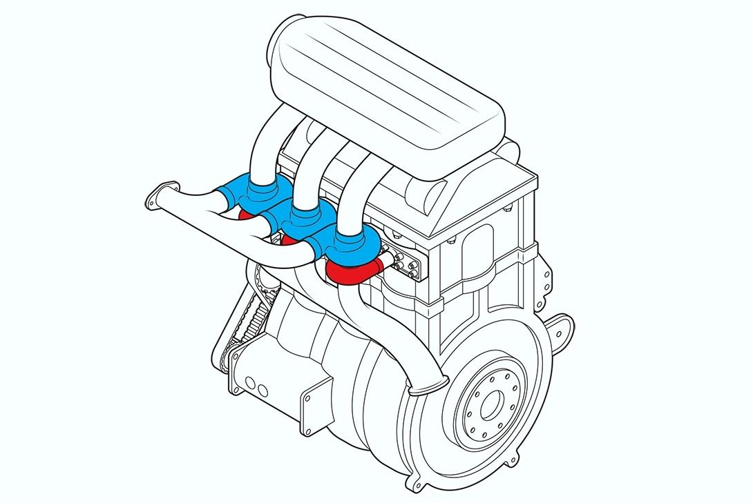 Proposta de James Clark é ter um turbo por cilindro e um TBI para cada válvula de admissão