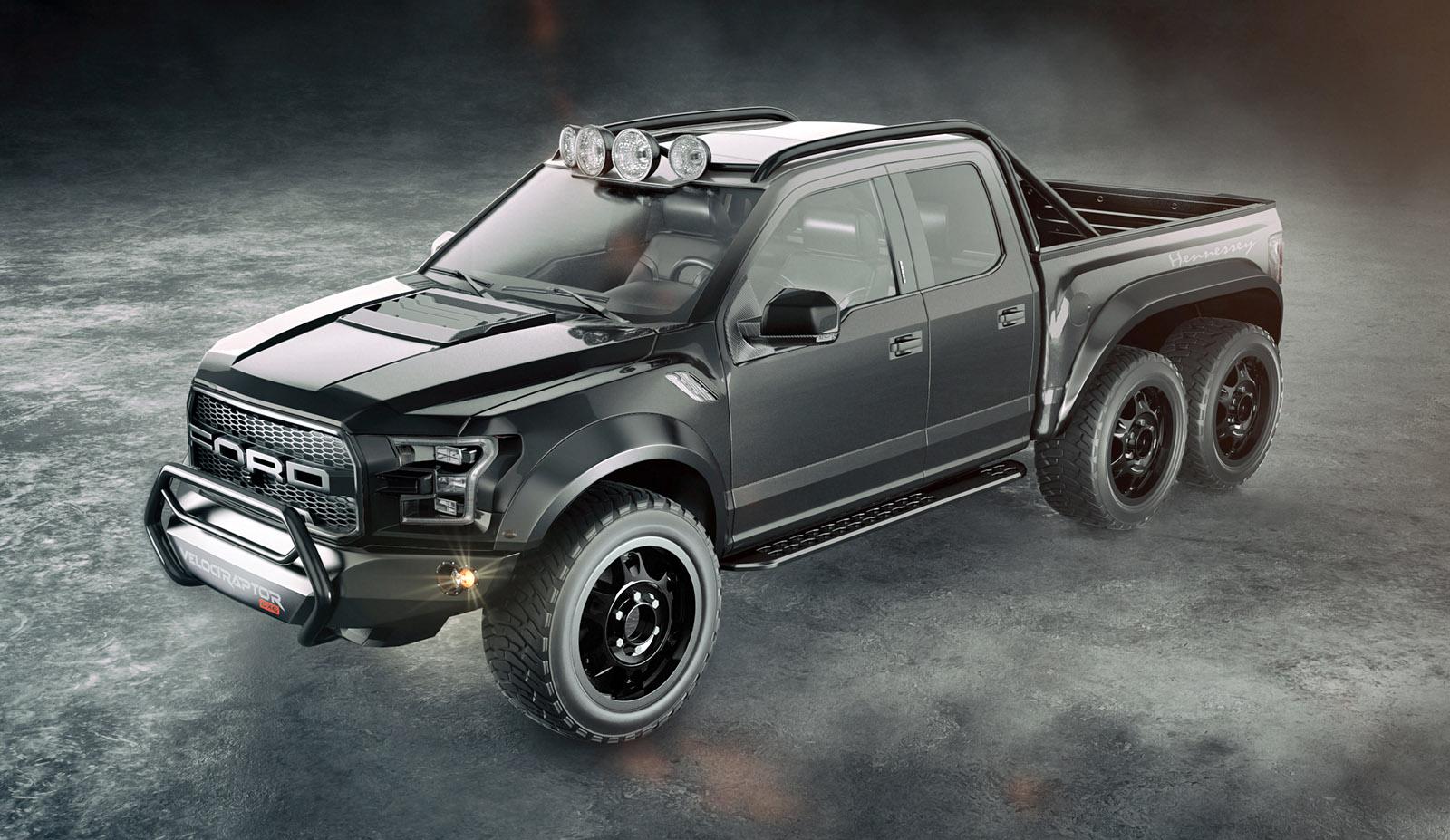 Velociraptor 6 6 E Um Incrivel Ford F 150 Raptor Com Seis Rodas Quatro Rodas