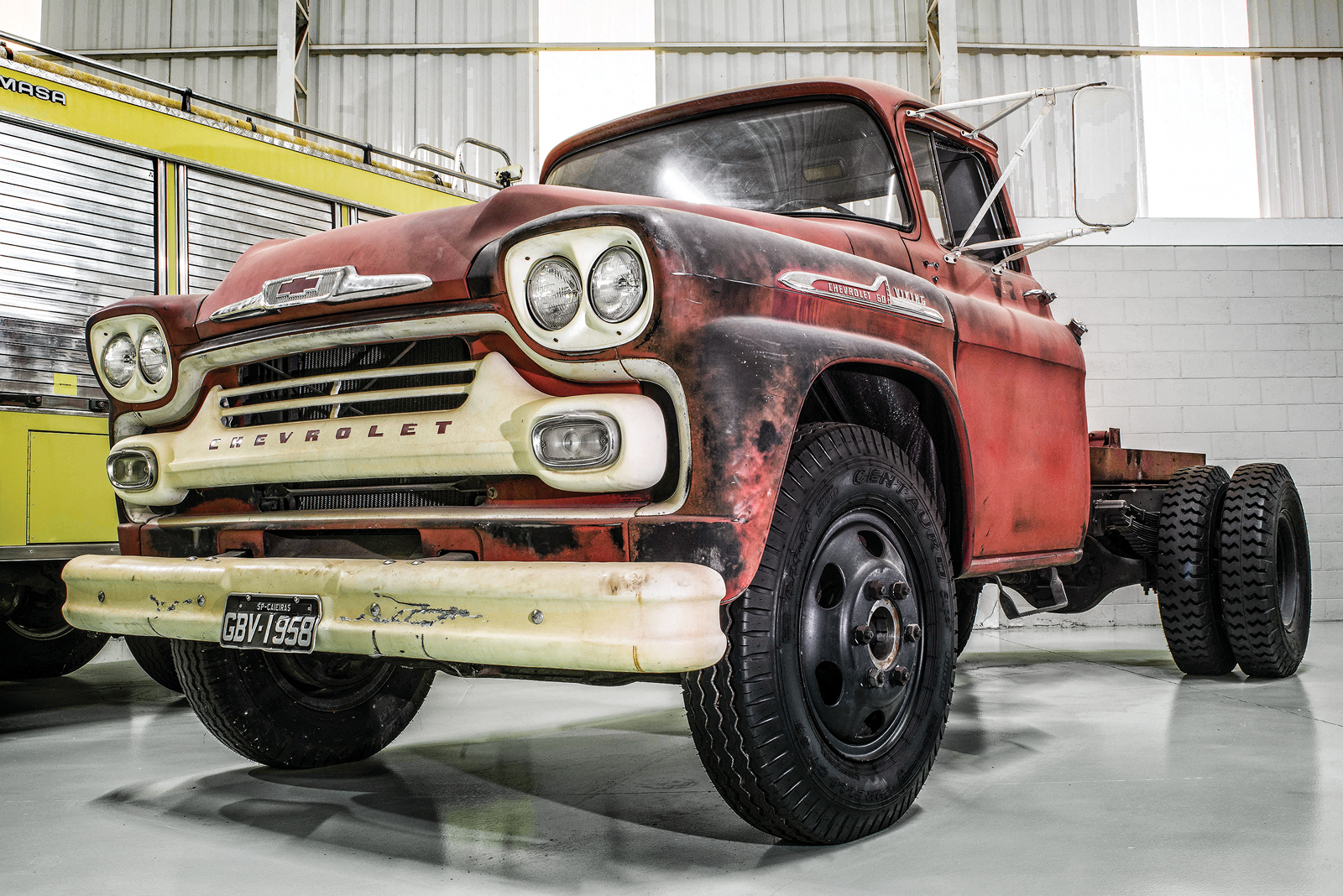 O Chevrolet americano 1958 é o único sem restauração de toda a coleção