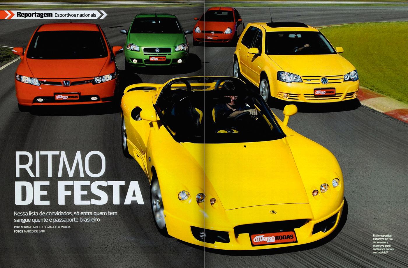 Honda Civic Si x Lobini H1 x Golf GTI x Ford Ka 1.6 x Fiat Palio 1.8R