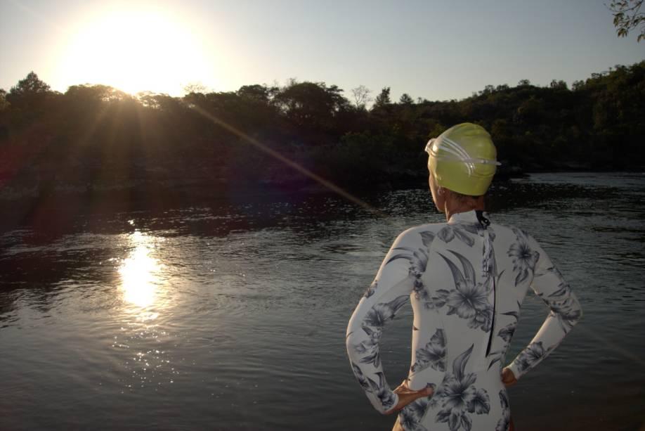 Fim do dia às margens do Rio Iapó