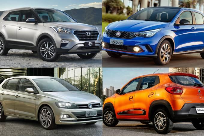 Hyundai Creta, novo VW Polo, Fiat Argo e Renault Kwid