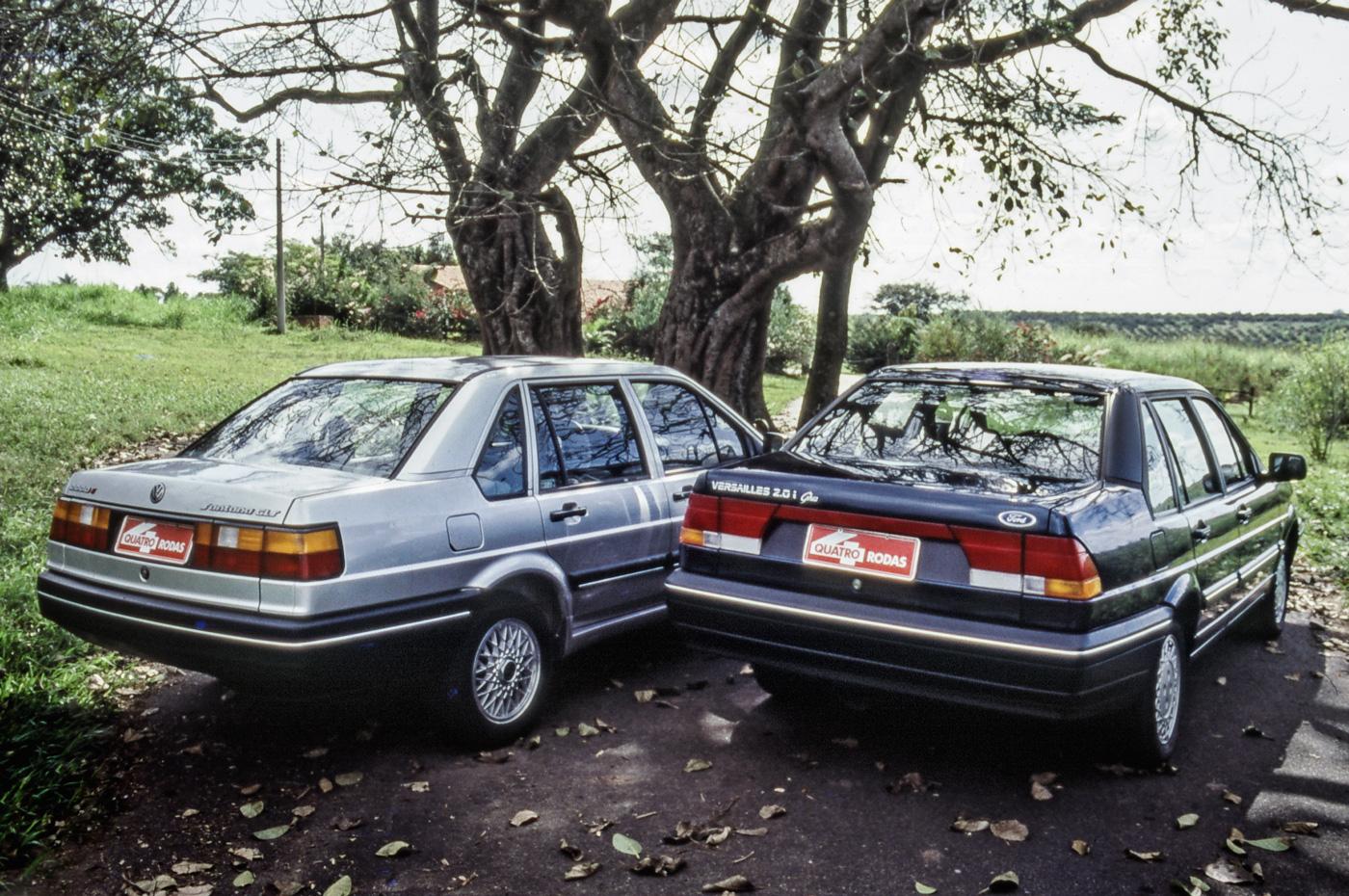 Teste comparativo entre o Santana GLS 2000i e o Versailles 2.0i Ghia.
