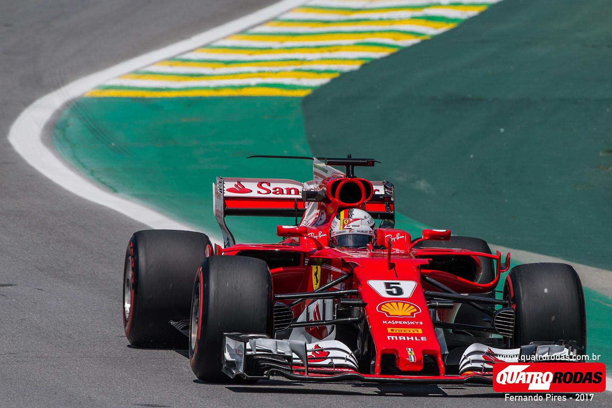 Vettel andou bem, mas acabou atrás de Bottas