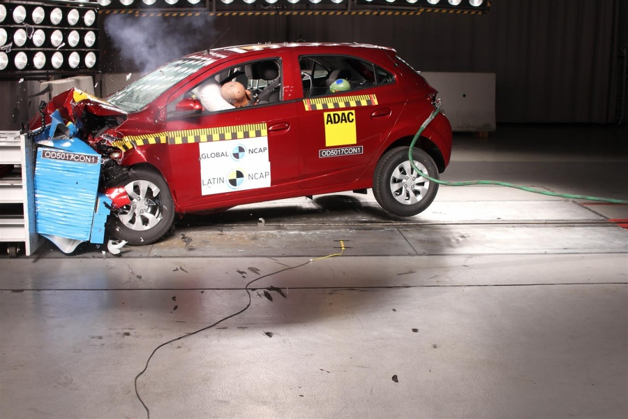 Crash-test Chevrolet Onix e Prisma 2018