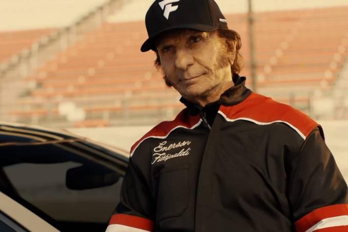 Emerson Fittipaldi em comercial da Kia
