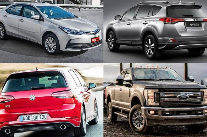 Mais vendidos mundo 2017 (Corolla, F-250, Golf, RAV4)