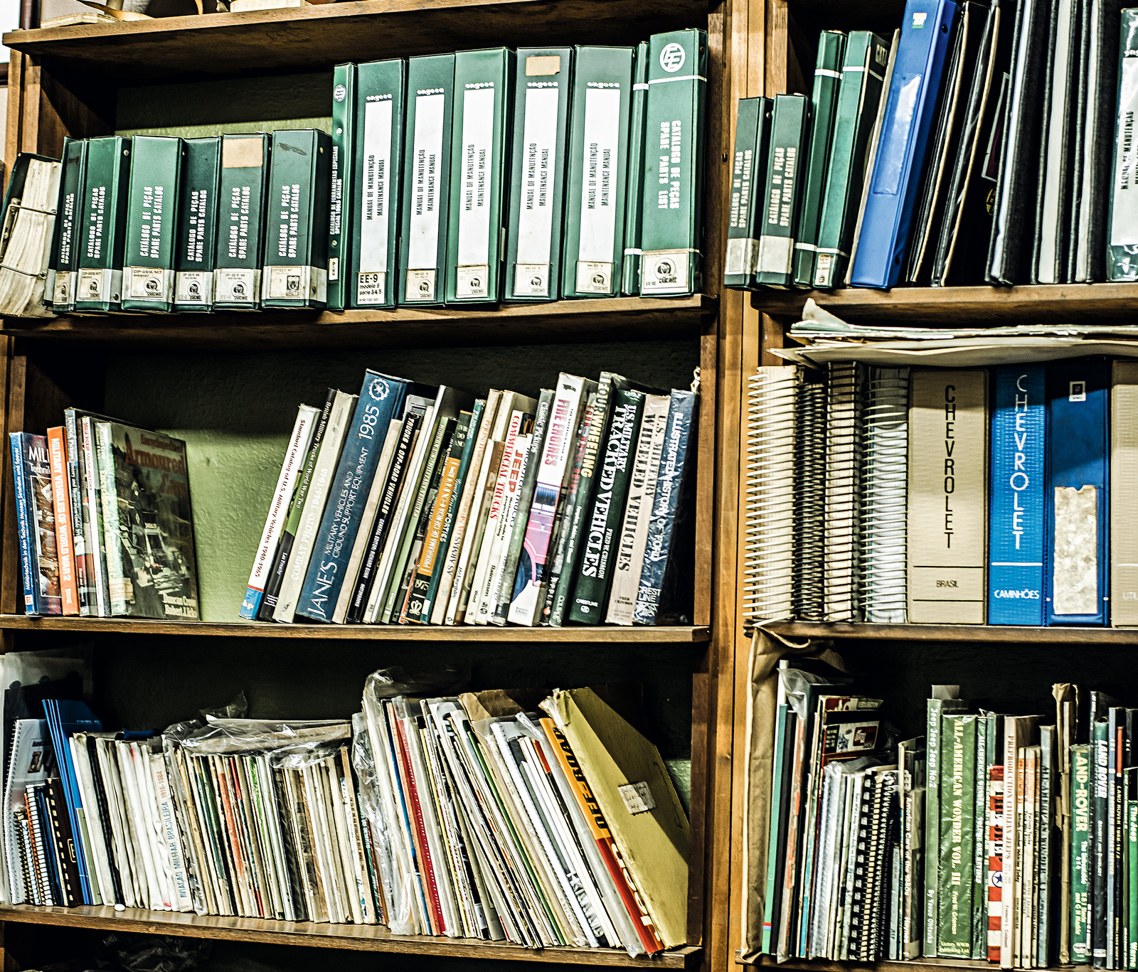 A coleção de manuais técnicos entra na lista de raridades
