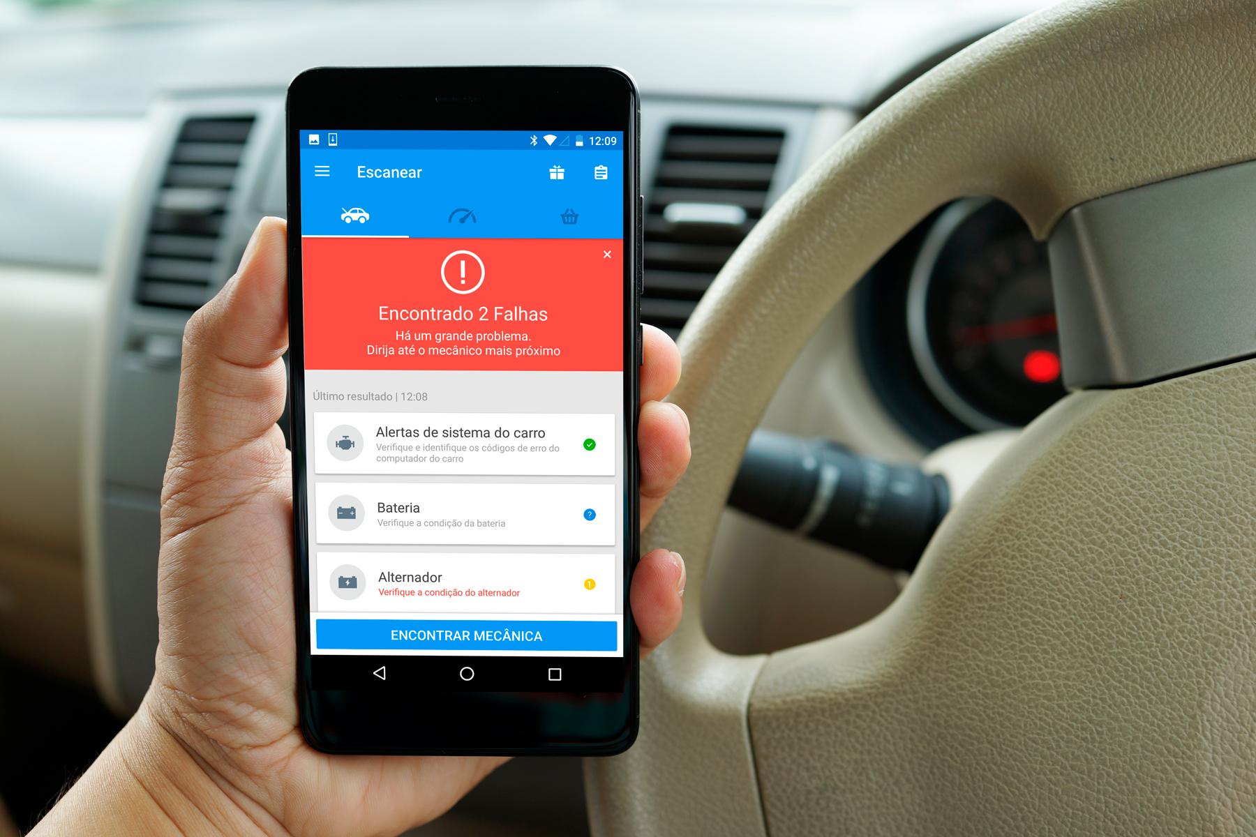 O app promete identificar qualquer problema mecânico ou elétrico