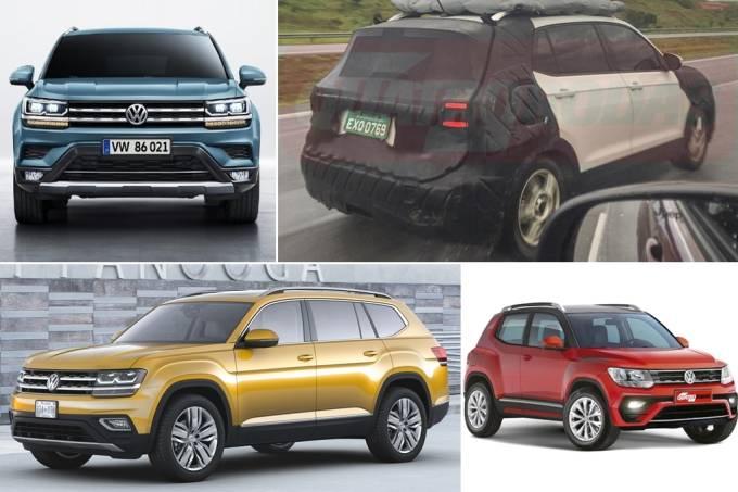 Cinco novos SUVS volkswagen