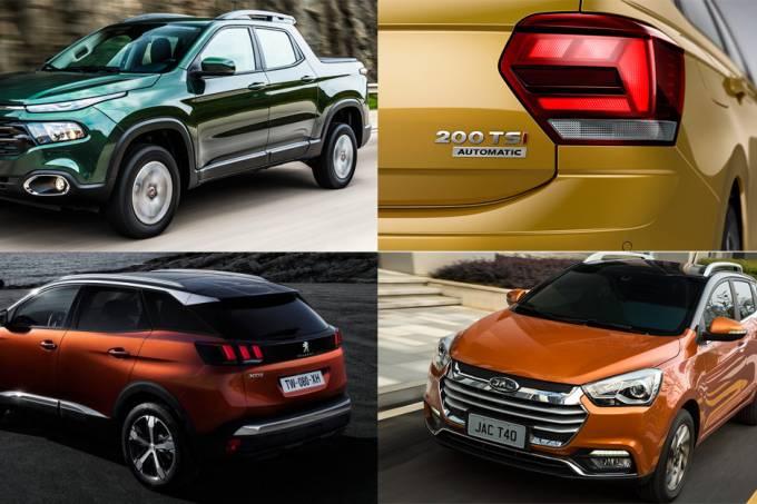 Fiat Toro, Peugeot 3008, VW Polo e JAC T40
