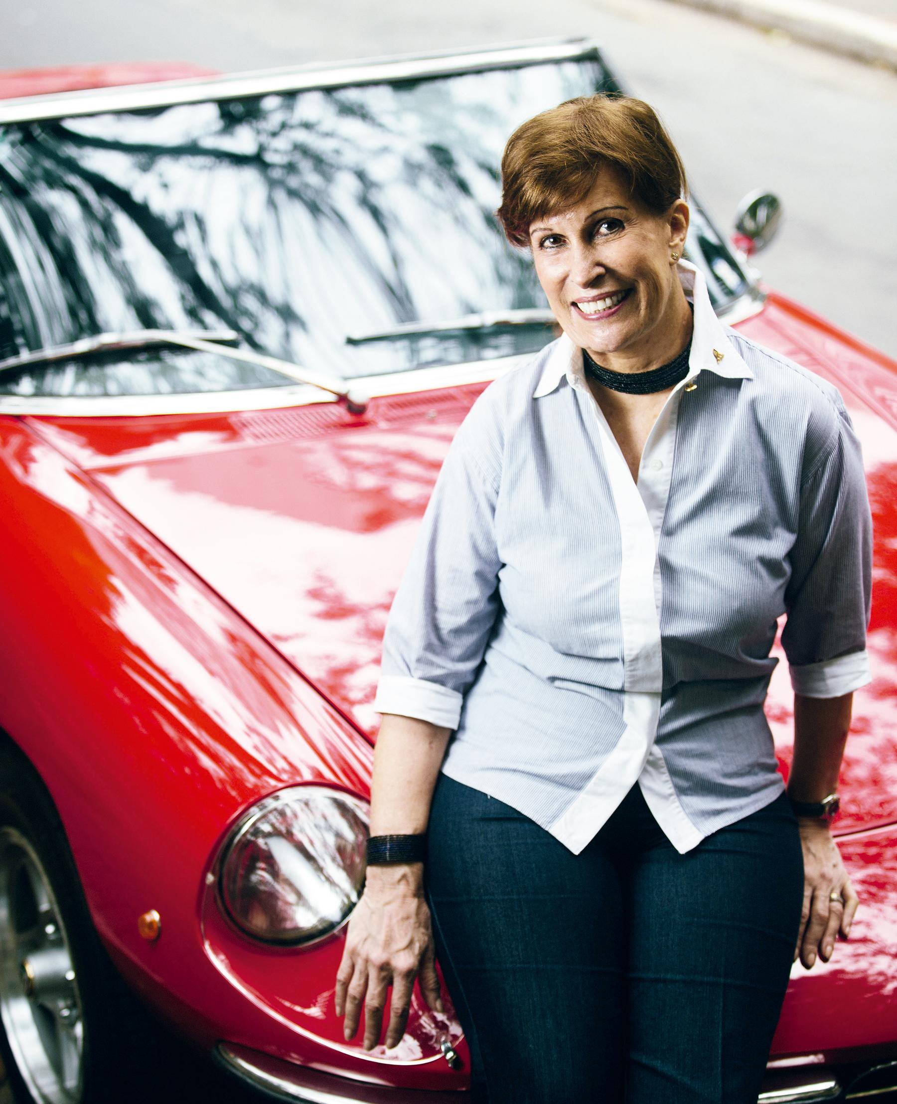 """Graziela e seu Alfa Spider: os motores foram seus """"filhos"""""""