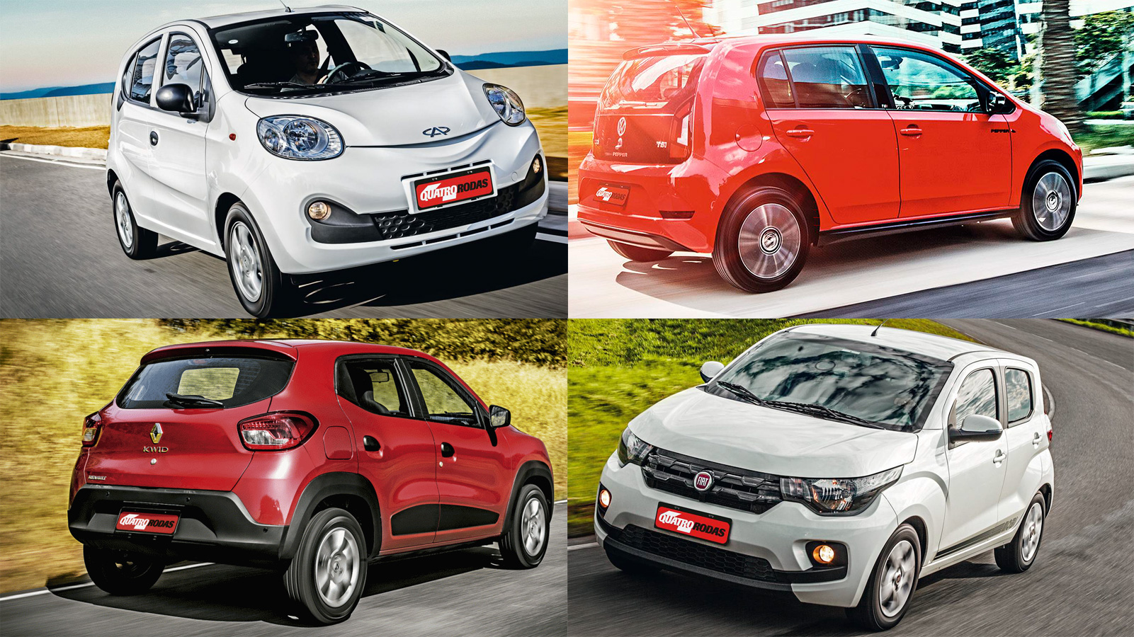 Chery QQ x VW Up! x Renault Kwid x Fiat Mobi