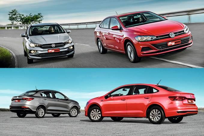 Comparativo: Fiat Cronos 1.3 x VW Virtus 1.6