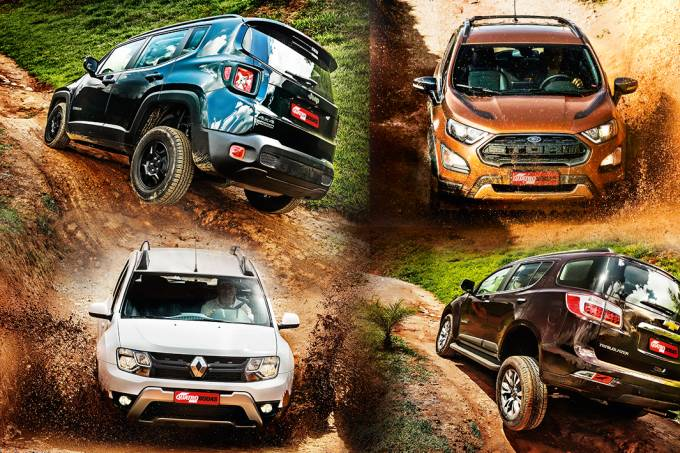 SUVs 4×4: Jeep Renegade, Ford EcoSport, Renault Duster e Chevrolet Trailblazer
