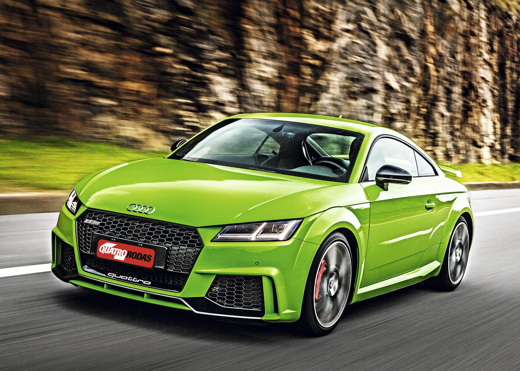 Teste Audi Tt Rs 0 A 100 Em 3 8s E Pintura Verde De R 30 000 Quatro Rodas