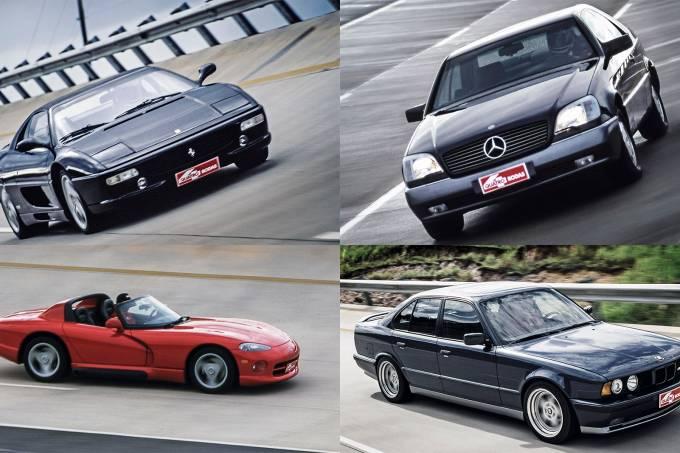 Grandes Comparativos: Ferrari F355 x BMW M3 x BMW M5 x Mercedes S 600 x Dodge Viper