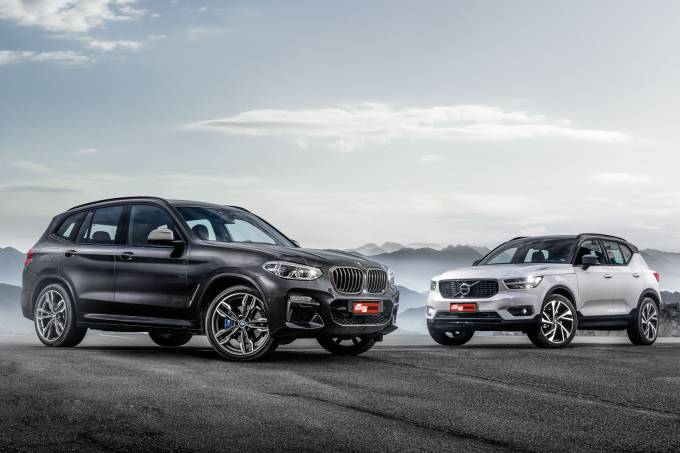 BMW X3 M40i e Volvo T5 R-Design