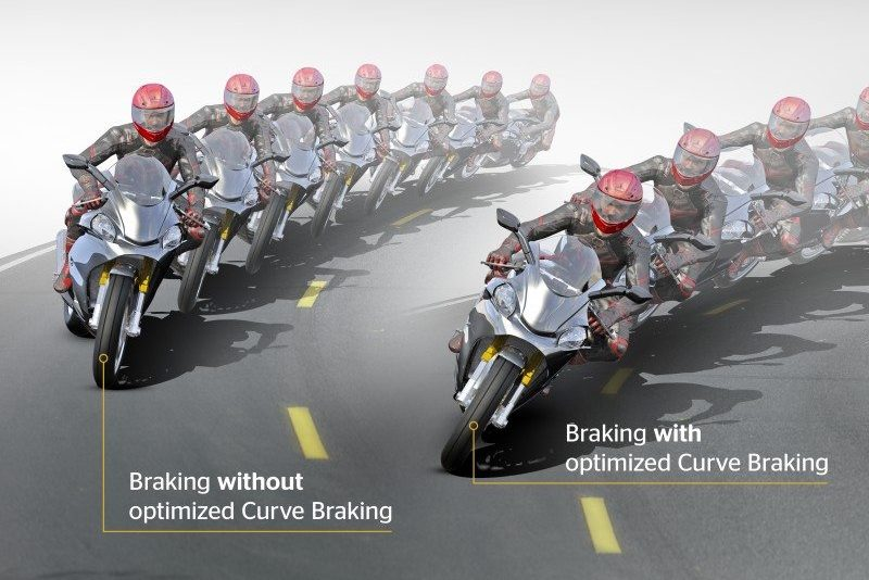 Os freios ABS das motos precisam ser projetados para não prejudicar as curvas