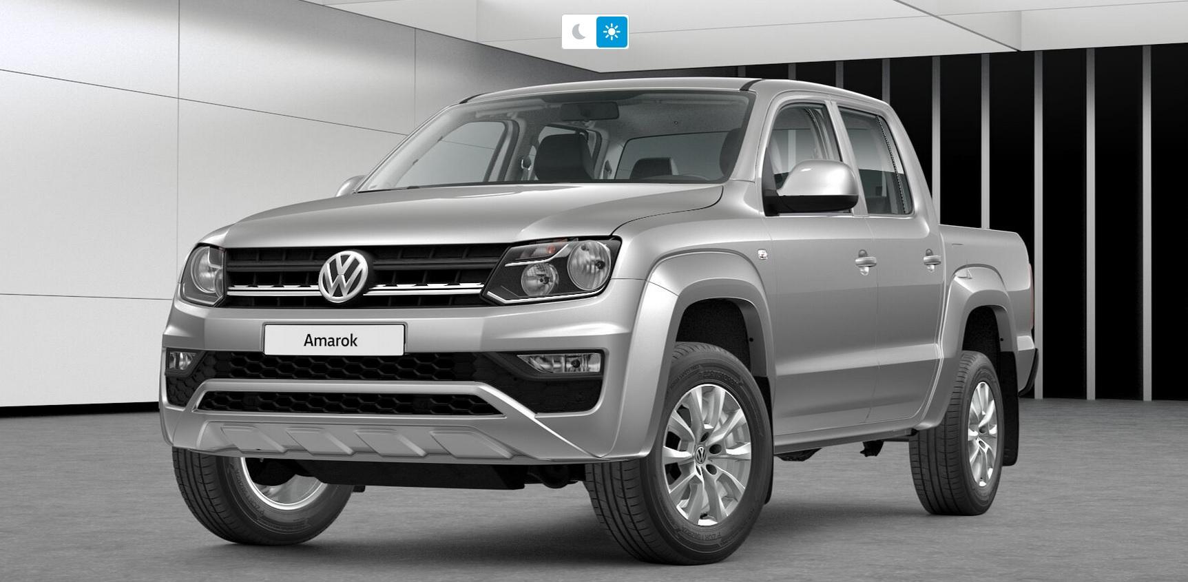 Volkswagen Amarok Comfortline chumbo vista 3/4 de frente