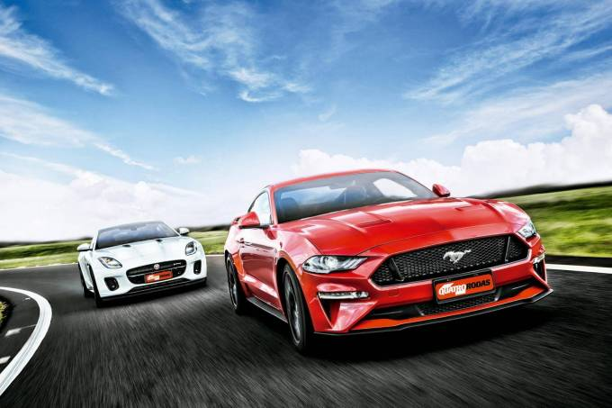 comparativo jaguar f-type 2.0 p300 ford mustang gt (1)