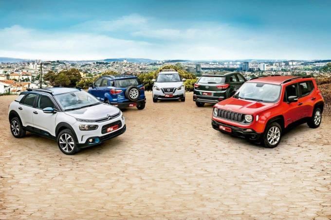 comparativo suvs atÉ 85.00 ford ecosport citroen c4 cactus jeep renegade hyundai compass nissan kicks (1)