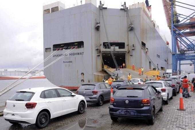 Embarque Carro Exportação Navio