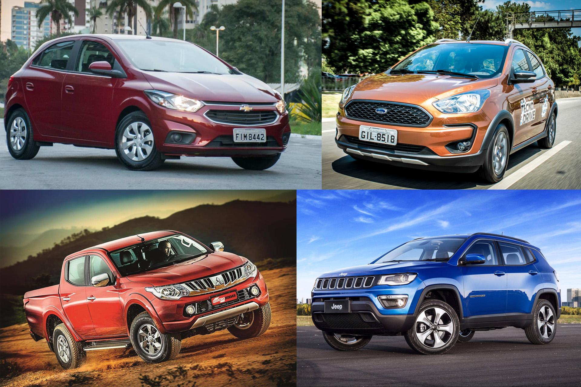 Esses carros são disparados os mais vendidos de suas marcas