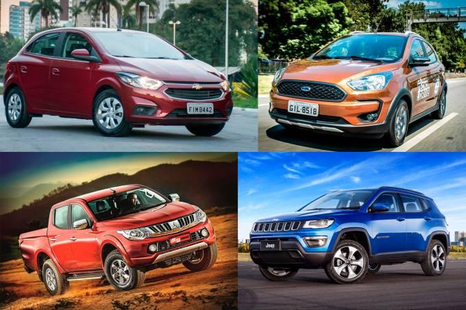 Carros mais vendidos de uma marca
