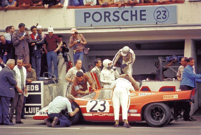 O 917K Salzburg foi o primeiro dos três Porsche que lideraram Le Mans em 1970