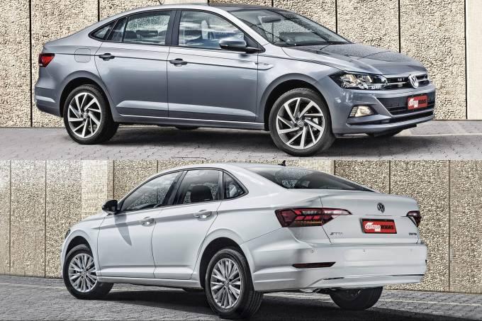 Volkswagen Virtus Highline 200 TSI vs. Volkswagen Jetta 250 TSI