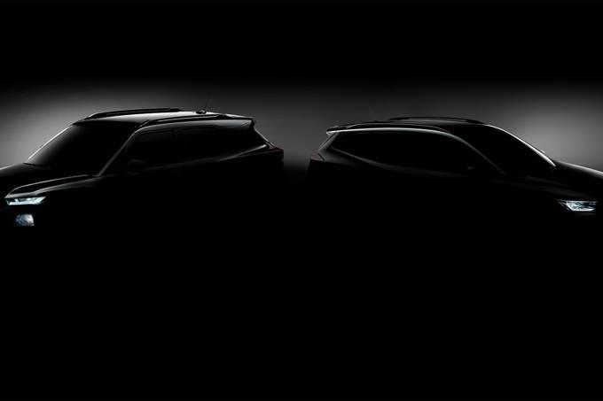 Teaser novos Chevrolet Trailblazer e Tracker