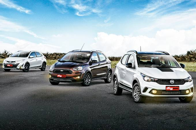 Comparativo: Fiat Argo Trekking, Ford Ka Freestyle e Toyota Yaris X-Way