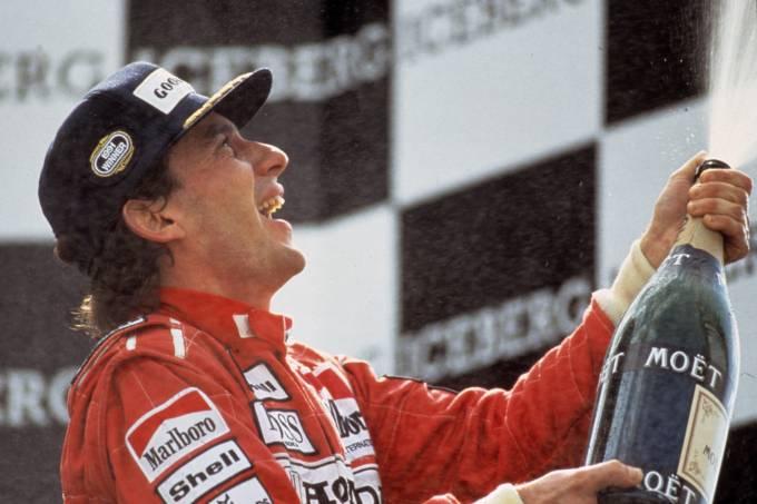Ayrton Senna, no documentário _Senna – O Brasileiro, o Herói, o Campeão_, de Asif Kapadia.