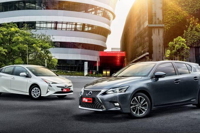 comparativo Lexus CT 200h e Toyota Prius Hybrid