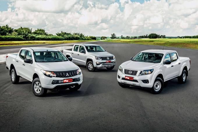 Comparativo Mitsubishi L200 Triton Sport GLX, VW Amarok SE e Nissan Frontier S