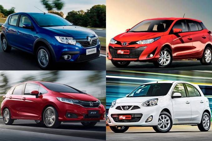 Sandero, Yaris, Fit e March: compactos com câmbio CVT