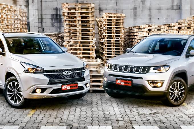 Comparativo Caoa Chery Tiggo 7 vs. Jeep Compass