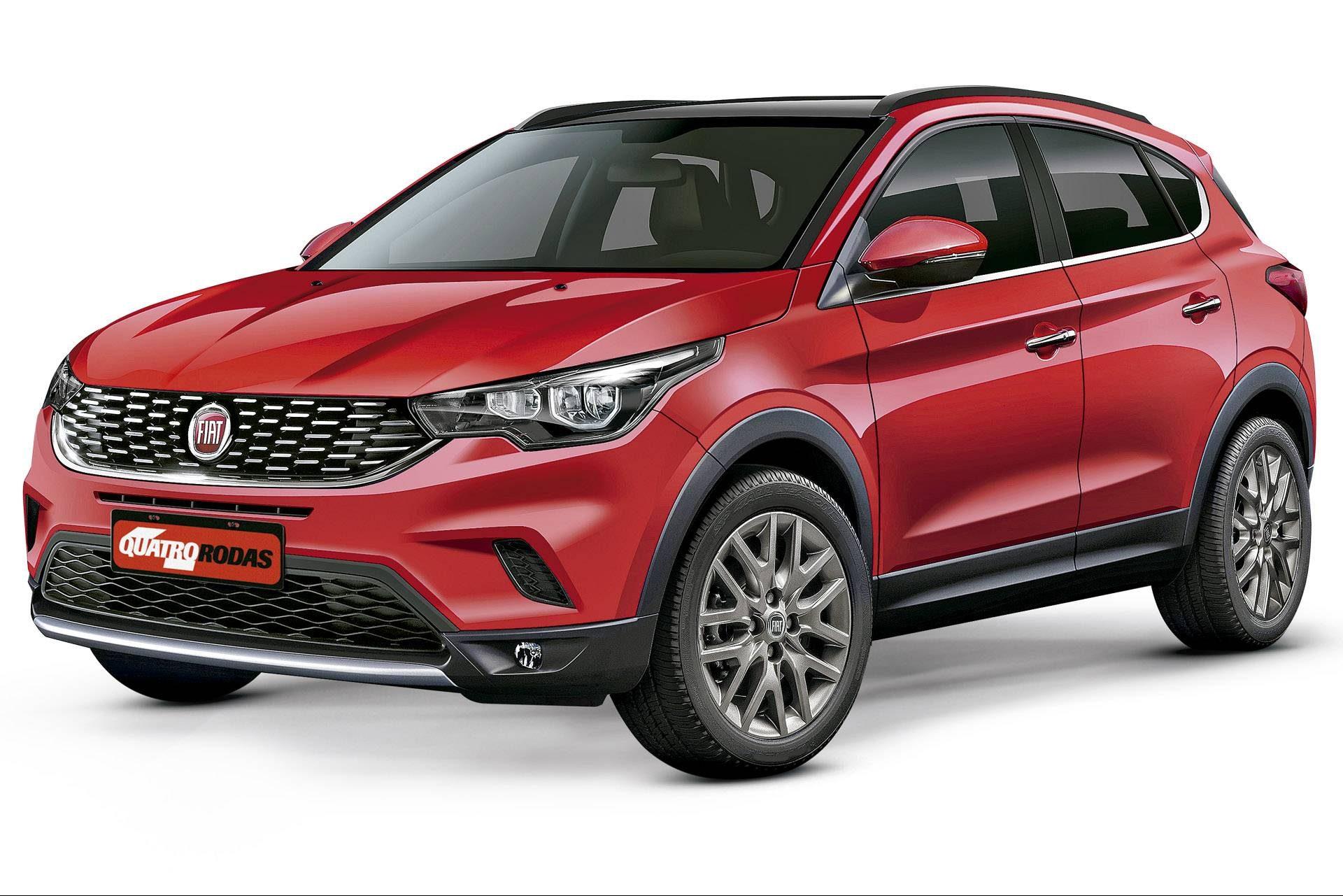Os dois novos SUVs da Fiat feitos em Betim (MG) usarão plataforma do Argo