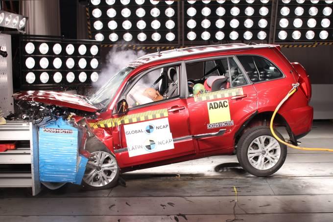 Chery Tiggo 3 Crash Test Latin NCAP