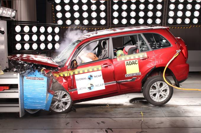 Chery Tiggo 3 Crash Test Latin NCAP