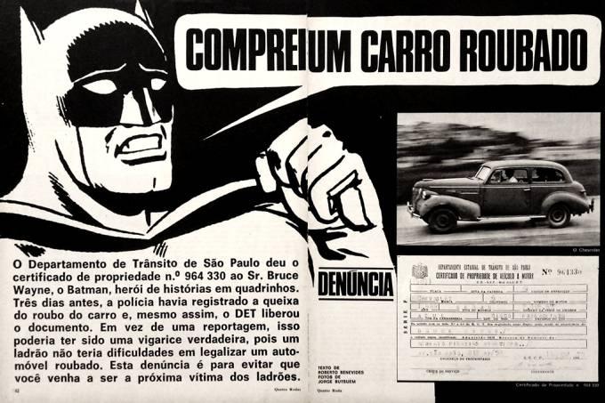 Quatro Rodas já vendeu carro roubado ao Batman